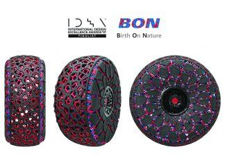 BON, el neumático concept de Kumho impreso en 3D