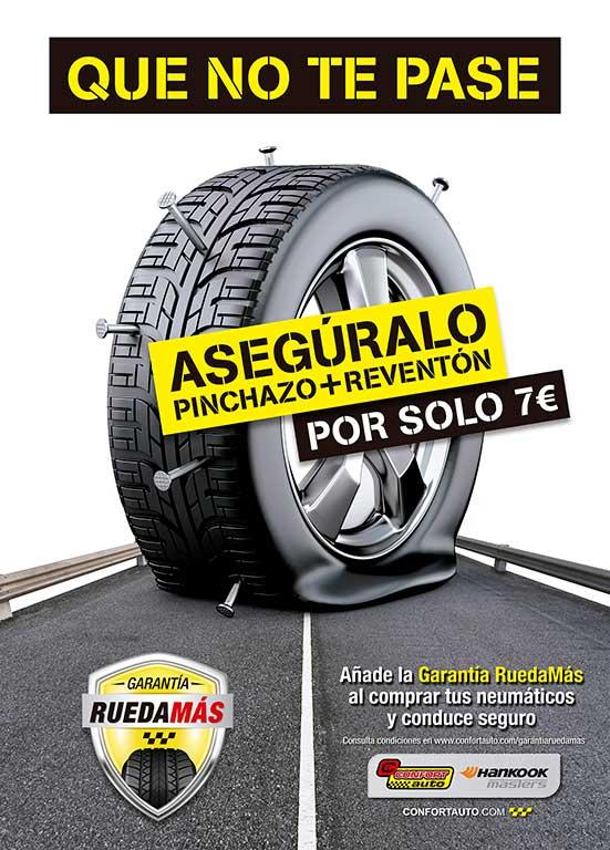 Nueva Garantía RuedaMás de Confortauto Hankook Masters por 7 euros.