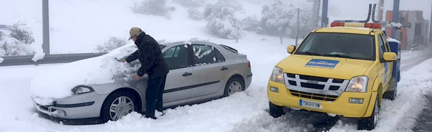 El RACE atiendió más de 1.500 coches atascados por la borrasca 'Filomena'